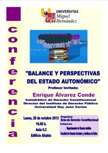 BALANCE Y PERSPECTIVAS DEL ESTADO AUTONÓMICO, UMH 28 OCT 2013