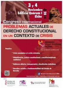 Congreso Internacional Derecho Constitucional UMH 3-4 nov 2014